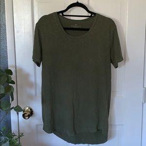 Army Green Extra Long T-Shirt